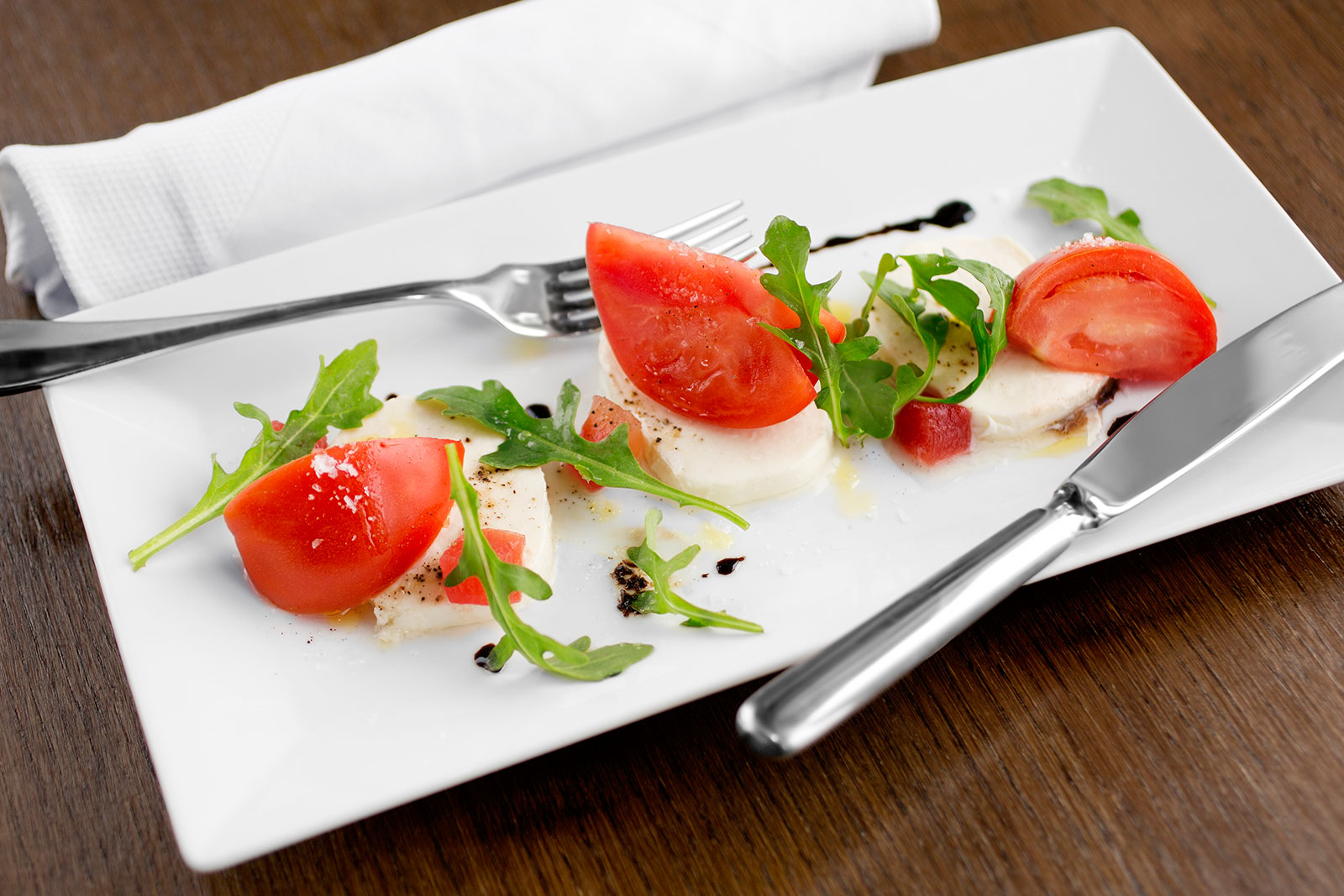 Cherry tomato mozzarella salad, Kimball's Kitchen, Sanderling Resort, Duck NC